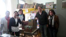 Las docentes junto al legislador del GEN.