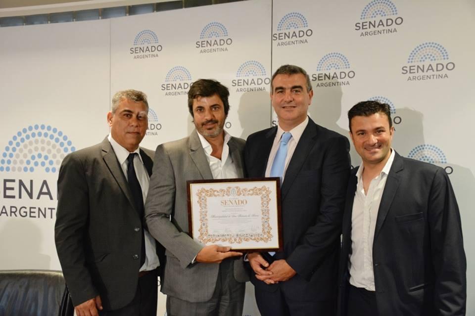 El Senado de la Nación galardonó hoy al municipio de San Antonio de Areco con el reconocimiento a las Buenas Prácticas Municipales 2018.