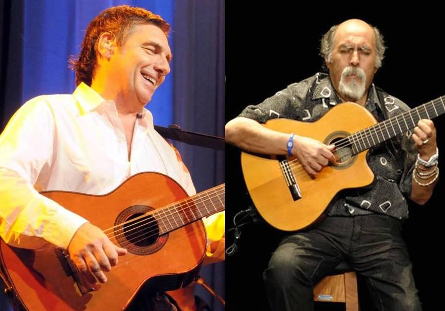 Facundo Saravia y Juanjo Domínguez en la Fiesta Patronal de Duggan