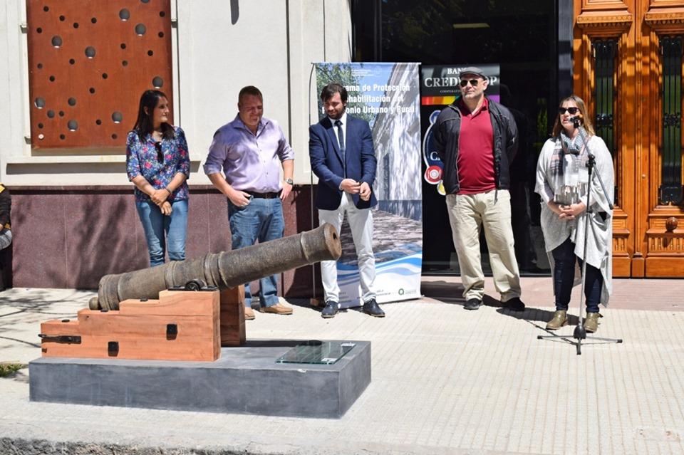 Areco restauró y puso en valor el cañón de 1789