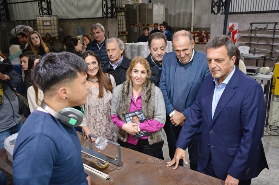 """Durañona acompañó a Massa en Pergamino: """"La industria y el agro son pilares del arraigo"""""""