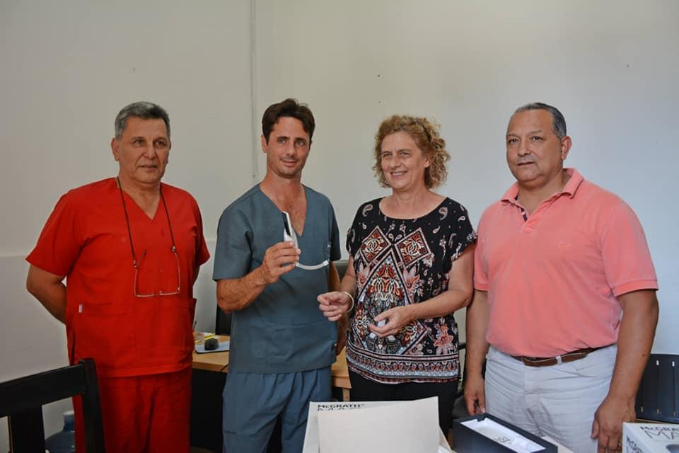 Este lunes, el municipio local recibió la donación de un videolaringoscopio por parte de la Asociación de Anestesia, Analgesia y Reanimación del norte de la provincia de Buenos Aires, destinado al Hospital Zerboni.