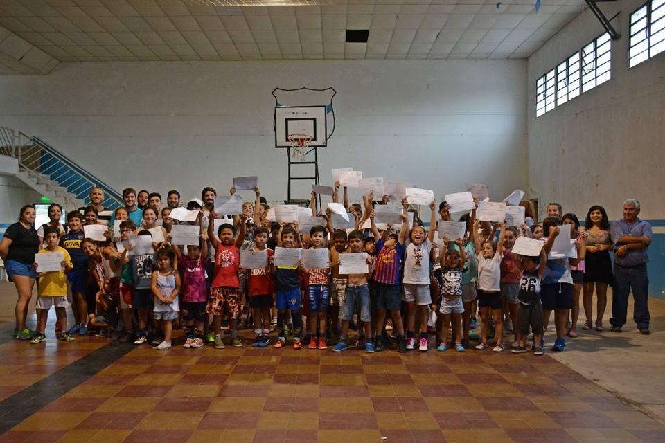 Se llevó a cabo el cierre del ciclo lectivo 2017 de la Escuela Municipal de Deportes en Villa Lía.