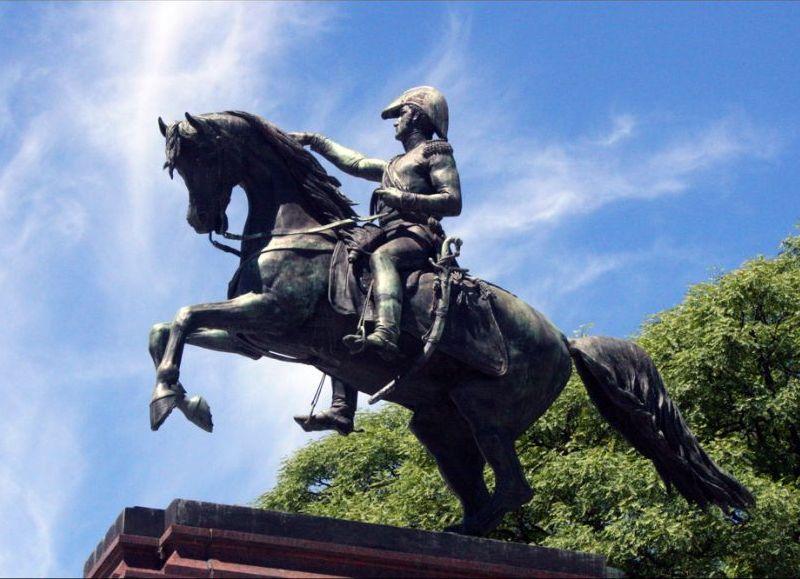 Haciendo honor al general Don José de San Martín.