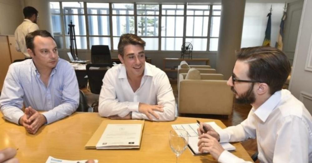 El ministro de Infraestructura y Servicios Públicos, Agustín Simone, mantuvo un encuentro de trabajo con Francisco Ratto, de San Antonio de Areco.
