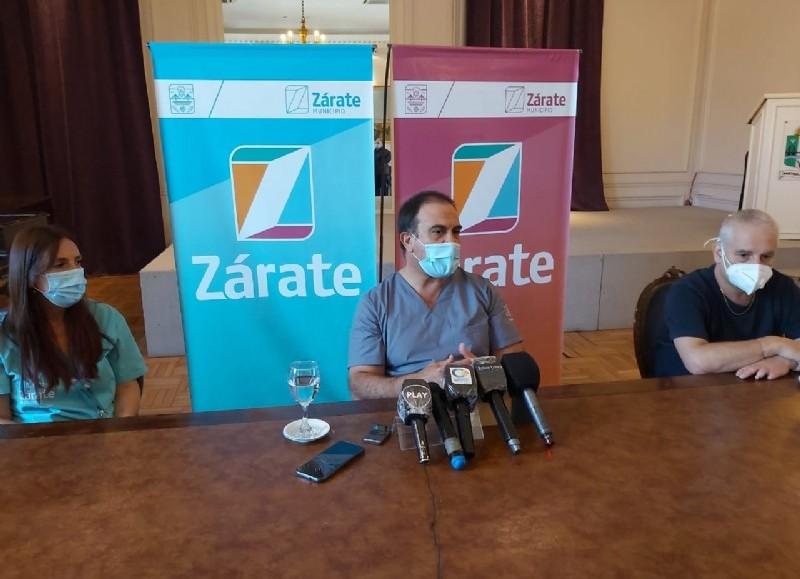 El Consejo de Salud de Zárate en conferencia, brindaron un mensaje sobre la situación de las clínicas  y su ocupación de camas.