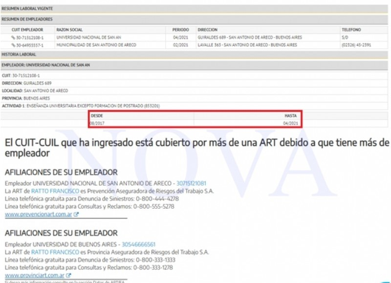 Francisco Ratto no tiene ART del municipio al que gobierna. (Foto: NOVA)