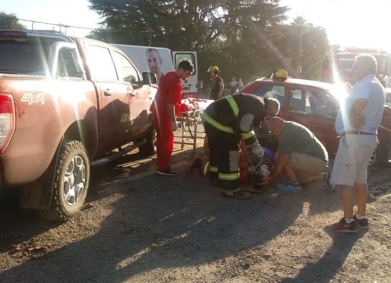 Un grave accidente se dio en la Ruta 8 en la intersección con la calle Arostegui, en barrio Villa Sanguinetti de Arrecifes.