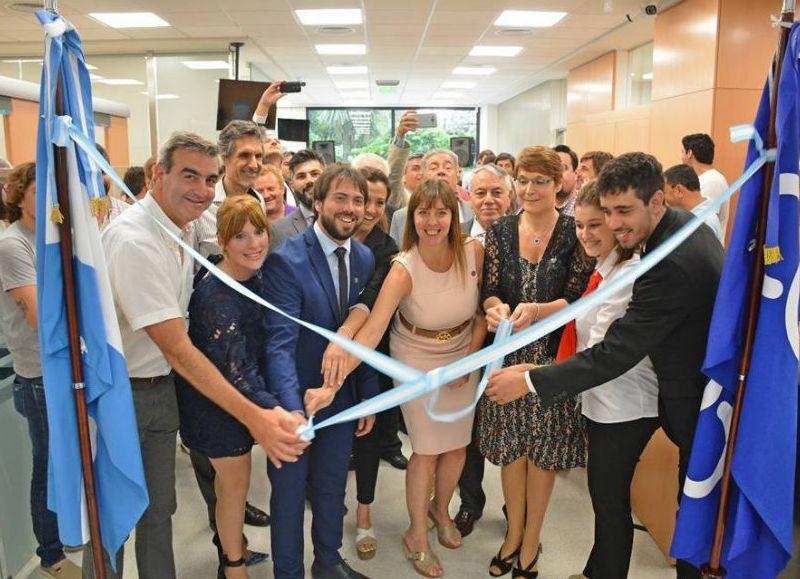 El intendente Francisco Durañona acompañó la inauguración.