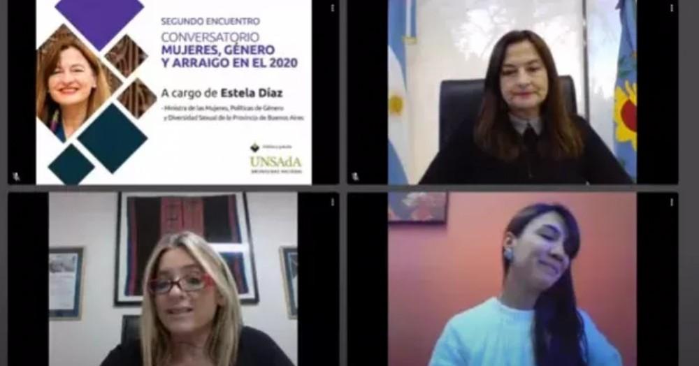 Se realizó -con la organización de la UNSAdA- una nueva charla del Conversatorio Mujeres, Género y Arraigo.