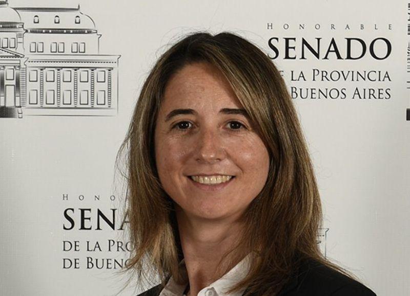 Flavia Delmonte, senadora de la quinta sección electoral.
