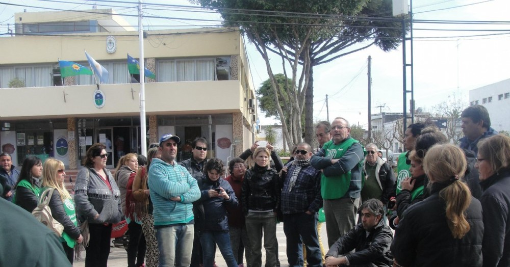 Dirigentes de ATE colmando las calles.