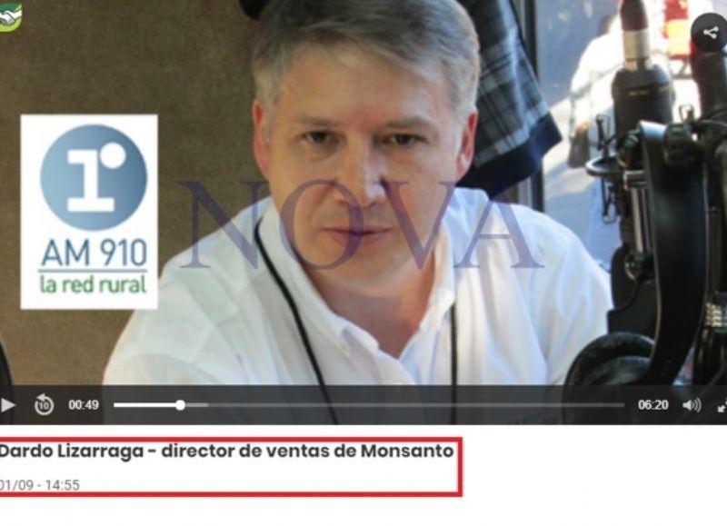 Una entrevista por radio La Red Rural con Dardo Lizarraga, vinculado a Monsanto. (Foto: NOVA)