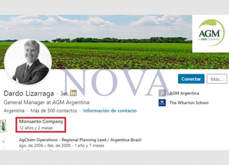 Dardo Lizarraga y sus largos años de vínculo con Monsanto. (Foto: NOVA)