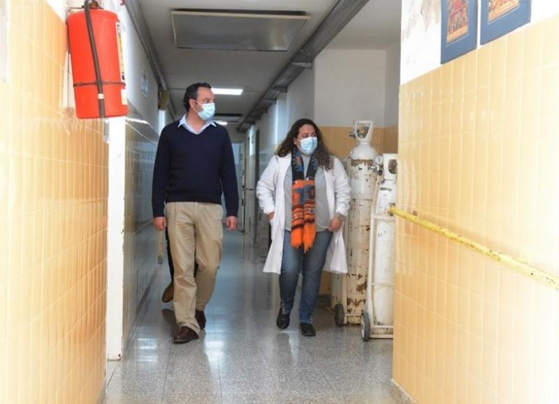 """La comuna informó que """"continúan las obras en el Hospital Zerboni en el sector de maternidad y pediatría""""."""