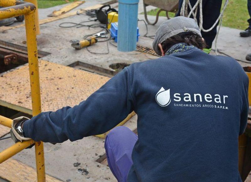 Las obras están a cargo de la empresa SANEAR