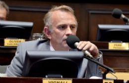 Gustavo Vignali saluda a los periodistas en su día
