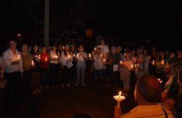 La ciudad realizó un sentido homenaje a los desaparecidos.