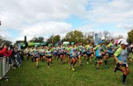 La imagen de cientos de corredores con las pecheras identificatorias fue la postal del domingo en Areco.