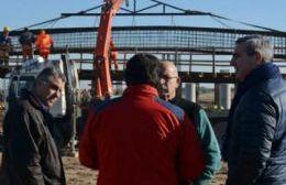 El jefe comunal recorrió la obra de construcción de la autopista Pilar-Pergamino recientemente reactivada.