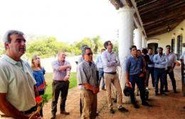 Recorrida en la planta de tratamiento de efluentes cloacales de San Antonio de Areco.