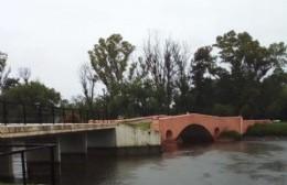 Se abrieron las compuertas del río Areco a un 70 por ciento