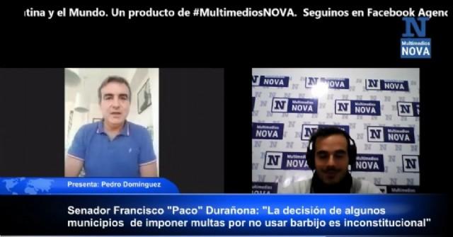 """Francisco """"Paco"""" Durañona: """"La decisión de algunos municipios de imponer multas por no usar barbijo es inconstitucional"""""""