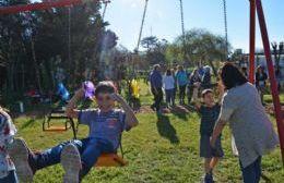 El intendente Francisco Durañona inauguró en Villa Lía la Plaza Eva Perón, un nuevo espacio verde para disfrutar en comunidad.