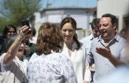 Vidal supervisó una obra hidráulica y dialogó con vecinos en Areco