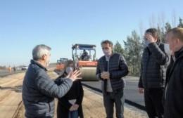 Katopodis recorrió San Antonio de Areco e inauguró obras de pavimento