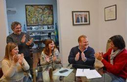 La reunión en la que se formalizó el convenio.