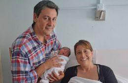 El retrato familiar tras el nacimiento.